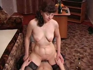 Amateur Drunk Mature Mom Old and Young Riding Russian SaggyTits