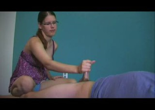 Amateur Glasses Handjob Teen