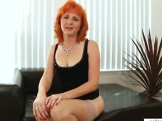 Mature Redhead Stockings
