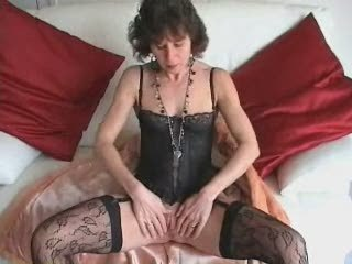 Lingerie Mature Small Tits Stockings