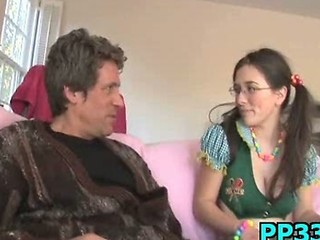 Daddy Glasses Old and Young Pigtail Teen