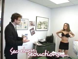 Babe Glasses Office Secretary