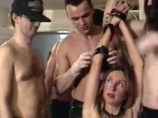 French sub wife gangbanged