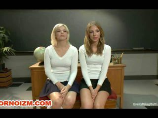 Anal students slaves are caned spanked cleaned and anal stretched with speculum strapon by hers