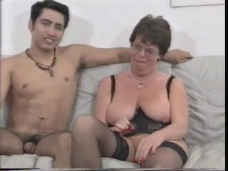Chubby European French Glasses Mature Mom Old and Young SaggyTits Stockings