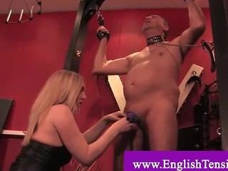 Slave Gets His Cock And Nipples Chained