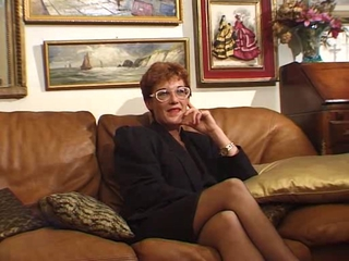 European French Glasses Mature Mom