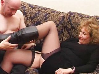 Chubby European Mature Stockings