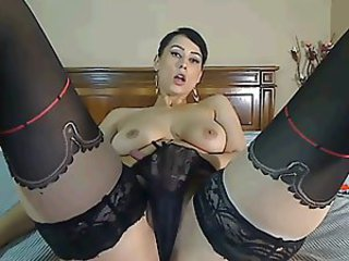 Masturbating MILF Panty Solo Stockings Webcam