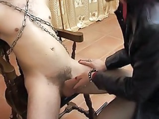 awesome bound handjob in nylons