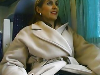 French Papy & mature slut in the train