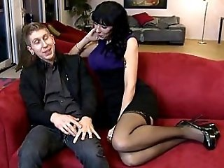 Amazing MILF Mom Old and Young Pornstar Stockings