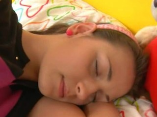 Cute European Sleeping Teen