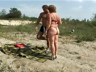 Amateur Ass Lingerie Mature Mom Old and Young Outdoor