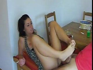 European Feet Smoking Teen