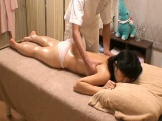 Asian  Massage Oiled Panty Teen Voyeur