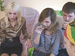 Amateur Drunk Groupsex Party Russian Teen