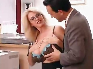 Big Tits Glasses Lingerie MILF Office Secretary