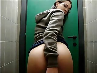 Co-worker Gets Horny In The Restroom