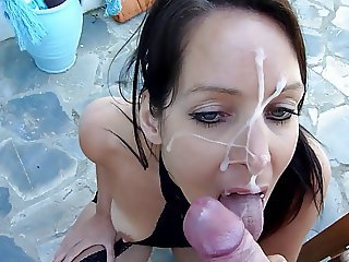 Amazing Cumshot Facial Outdoor Pov Teen