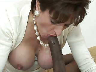 Big cock Blowjob Interracial Mature