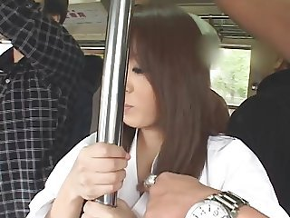 Asian Bus Japanese MILF Pornstar Public