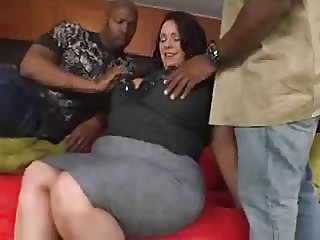 BBW Interracial Mature Threesome