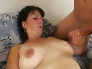 Cumshot Mature Mom Old and Young SaggyTits
