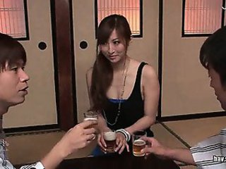Asian Drunk Japanese Teen Threesome