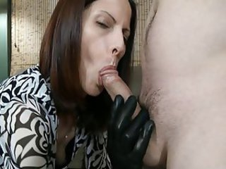 Blowjob Clothed Latex MILF