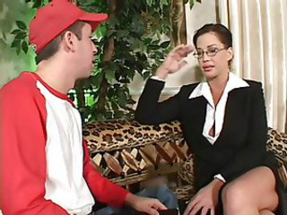 Glasses MILF Mom Old and Young Teacher