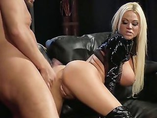 Amazing Ass Blonde Latex Long hair MILF Pornstar