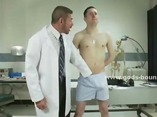 Doctor consultation ends bad for gay patient after he wakes up packed and tied defenselles in bdsm