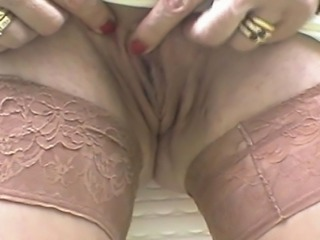 Homemade MILF Pussy Stockings
