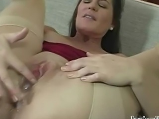 HomegrownWives Horny brunete wife getting her pussy fucked hard then creamed...