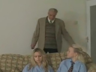 European Old and Young Spanking Teen