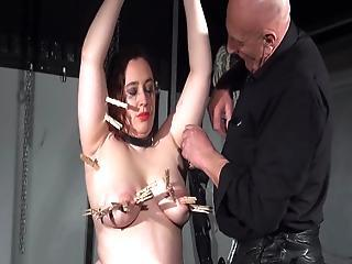Giant Initiate Bondman Nimue Allen Punished To Tears And Ugly Rookie Submissive Crying Inside Bound And Pain