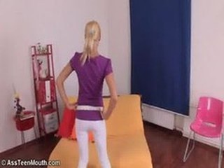 Flick is a little cockloving blonde slut at Ass Teen ...