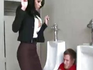 MILF Pornstar Teacher Toilet