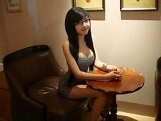 Amazing Asian Chinese Cute Glasses Long hair Teen