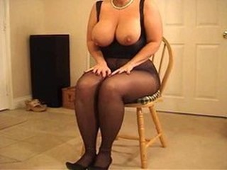 BBW Big Tits MILF Natural Pantyhose
