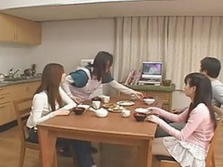 Asian Daughter Family Japanese Kitchen Teen
