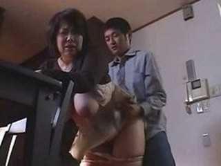Asian Big Tits Clothed Doggystyle Japanese Mature Mom Natural Old and Young SaggyTits