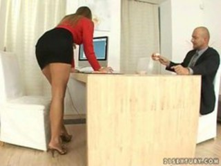Amazing Babe Office Secretary Skirt