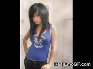 Amateur Girlfriend Goth Teen