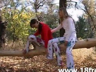 """Two Innocent 18yo Chicks In The Forest"""" target=""""_blank"""