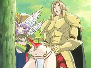 Princess hentai tittyfucked and doggystyle fucked in the forest