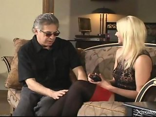 Blonde Daddy Daughter Old and Young Stockings