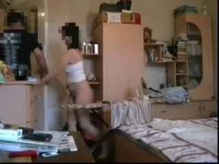 Borqna gets fucked while she's ironing - bulgarian