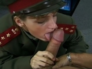 Army Blowjob Clothed MILF Uniform